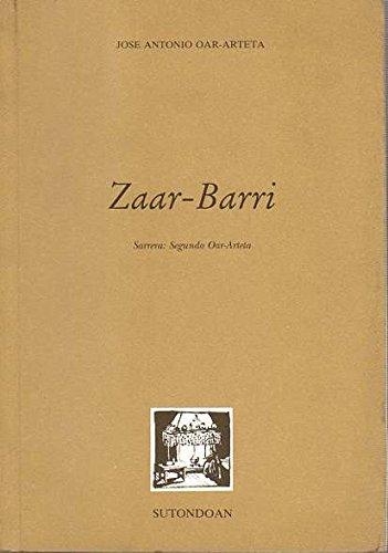 9788486833381: Zaar-Barri (Sutondoan)