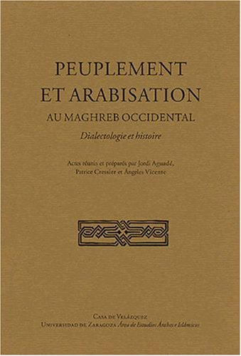 9788486839857: Peuplement et arabisation au Maghreb occidental