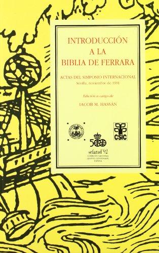 9788486956356: Introducción a la Biblia de Ferrara (Colección Encuentros) (Spanish Edition)