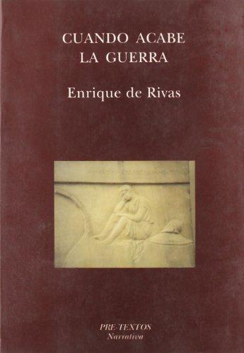 9788487101557: Cuando acabe la guerra (Narrativa) (Spanish Edition)
