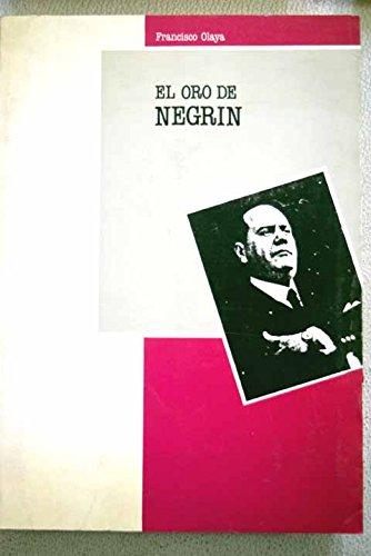 9788487169083: El oro de Negrín (Spanish Edition)