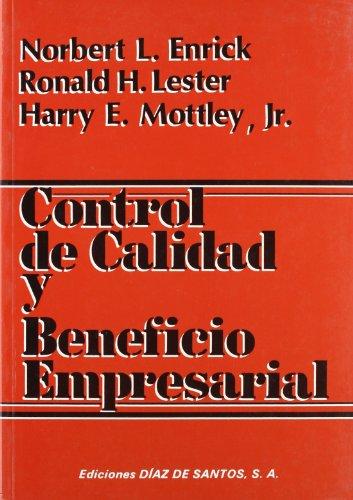 9788487189234: Control de Calidad y Beneficio Empresario (Spanish Edition)