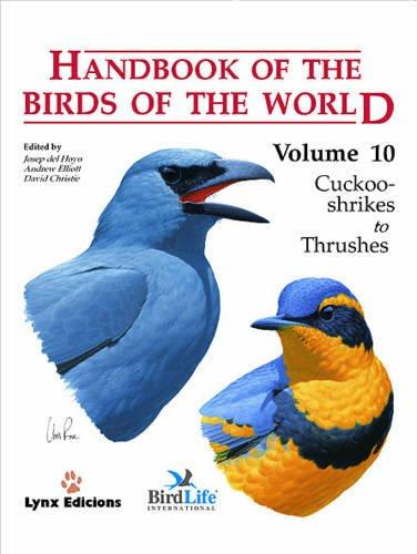 9788487334726: Handbook of the Birds of the World, Vol. 10: Cuckoo-Shrikes to Thrushes