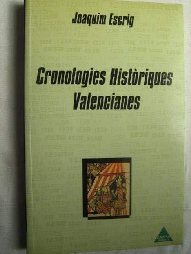 9788487398452: Cronologies historiques valencianes