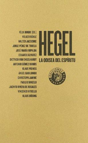 9788487619151: Hegel: la Odisea del espiritu