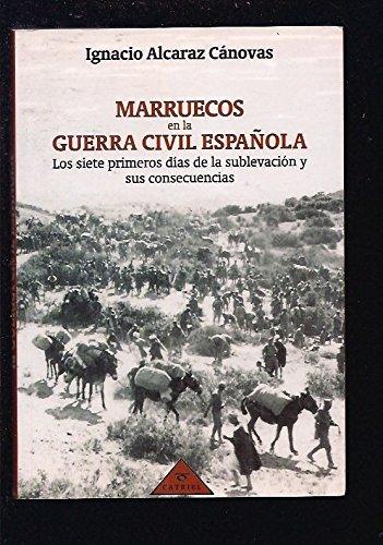 9788487688232: Marruecos en la Guerra civil española
