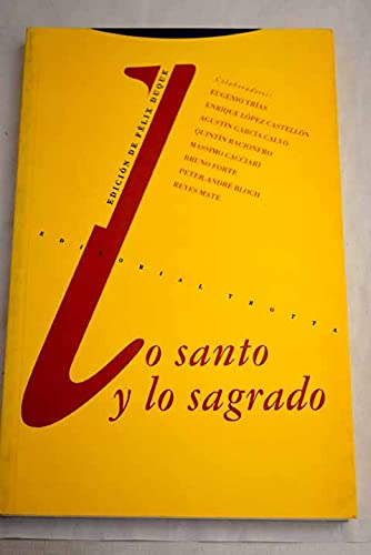 9788487699696: Lo santo y lo sagrado (Coleccion Estructuras y Procesos)