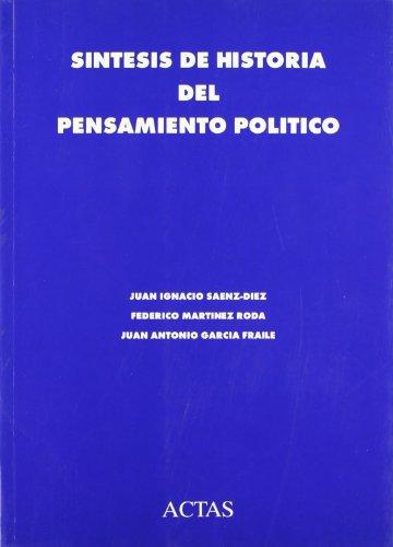 9788487863288: Síntesis de historia del pensamiento político (Actas/historia) (Spanish Edition)