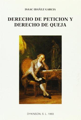 9788488030573: Derecho De Peticion Y Derecho De Queja