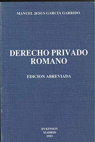 9788488030832: Derecho privado romano