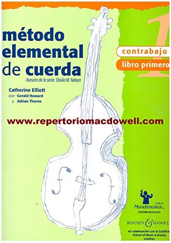 9788488038838: NELSON - Metodo Elemental de Cuerda: Contrabajo 1º (Ed.Española)