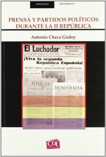 9788488067135: Prensa y Partidos Politicos Durante la ii Republica