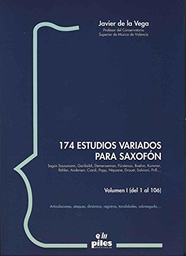 9788488548924: 174 Estudios Variados para Saxofón I