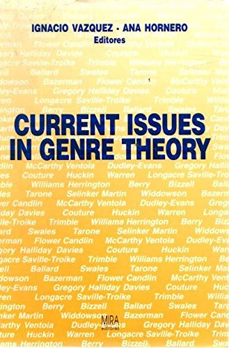 9788488688095: Current issues in genre theory