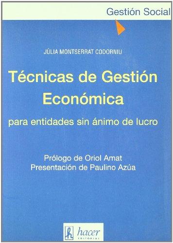 9788488711199: Técnicas de gestión económica para entidades sin ánimo de lucro