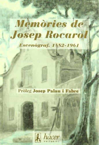 9788488711373: Memòries de Josep Rocarol i Faura