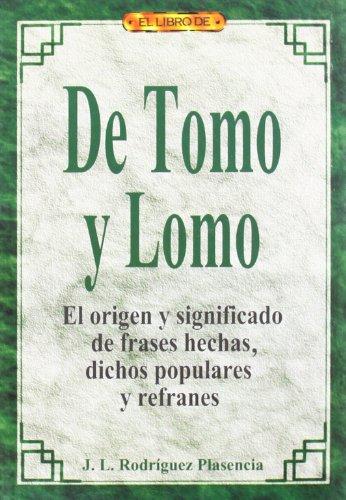 9788488893383: de Tomo y Lomo (Spanish Edition)