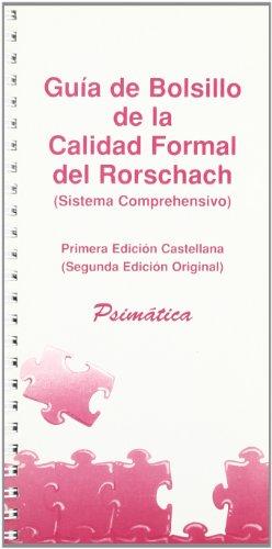 9788488909022: Guía de bolsillo de la calidad formal del Rorschach : sistema comprehensivo