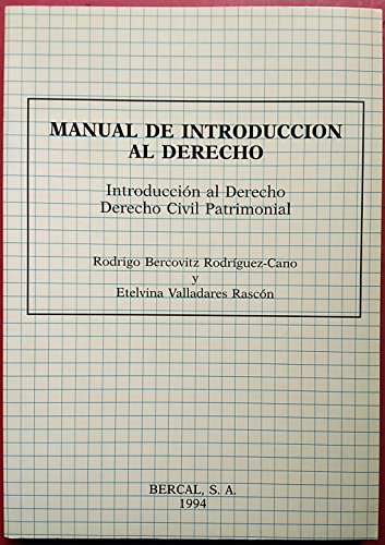9788489118003: Manual de introduccion al derecho (civil patrimonial)
