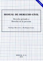 9788489118140: Manual de derecho civil - derecho privado y derecho de la persona (5ª ed.)