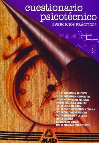 9788489464643: CUESTIONARIO PSICOTÉCNICO. EJERCICIOS PRÁCTICOS. (Spanish Edition)