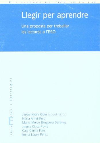 9788489489714: Llegir per aprendre : una proposta per treballar les lectures a l'ESO