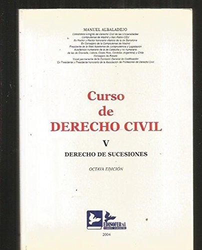 9788489493889: Derecho civil 5 derecho de sucesiones