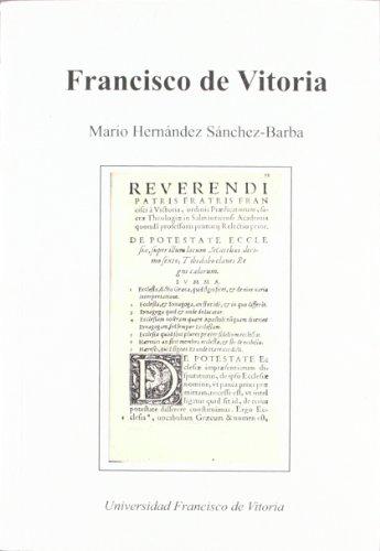 9788489552456: Francisco de Vitoria