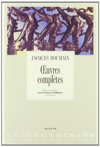 Oeuvres Completes de Jacques Roumain, Colección Archivos No. 58: Roumain, Jacques
