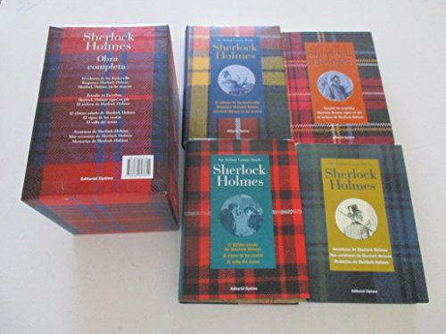 9788489693814: Pack de cuatro volúmenes.Obras completas de Sherlock Holmes