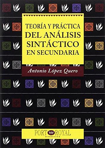 9788489739390: Teoria y practica del analisis sintactico en secundaria