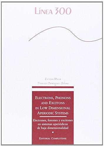9788489784994: Electrons, phonons and excitons in low dimensional aperiodic systems. Electrones, fonones y excitones en sistemas aperiódicos de baja dimensionalidad (Línea 300)
