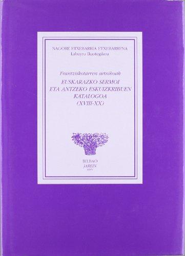 9788489816305: Euskarazko Sermoi Eta Antzeko Eskuizkribuen Katalogoa (+cd-Rom) (Jarein)