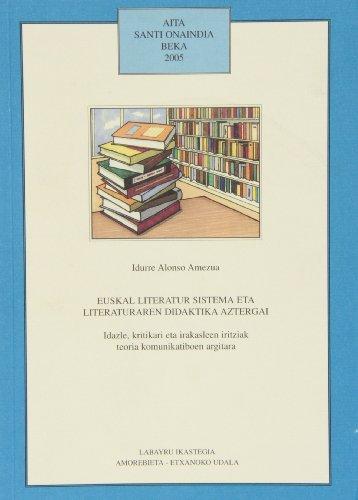 9788489816664: Euskal Literatur Sistema Eta Literaturaren Didaktika Aztergai