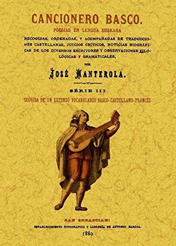 9788490011522: Cancionero basco. Poesías en lengua euskara