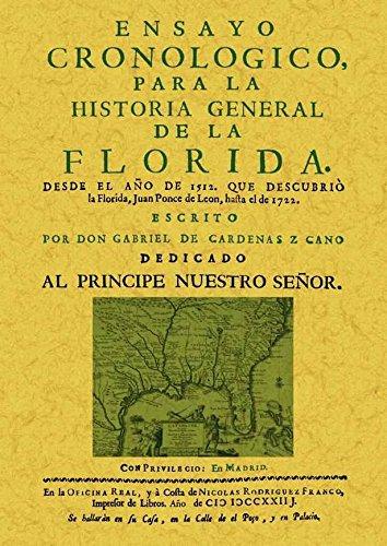 ENSAYO CRONOLOGICO PARA LA HISTORIA GENERAL DE: CARDENAS Z. CANO,