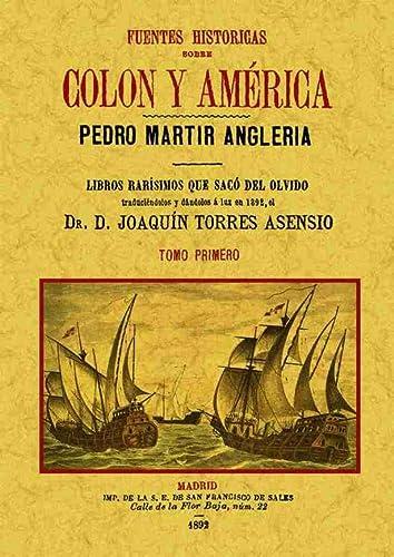 9788490013304: Fuentes historicas sobre Colon y America (4 tomos). Edicion Facsimilar (Spanish Edition)