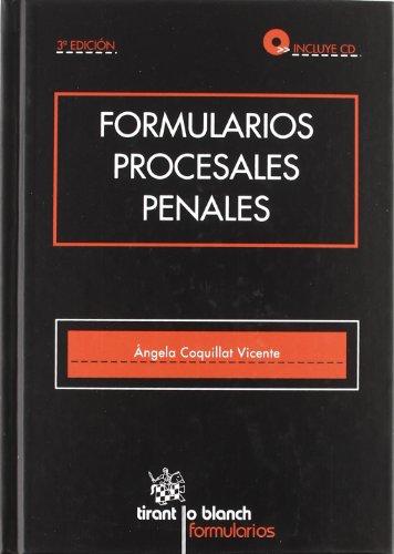 9788490040256: Formularios procesales penales + Cd Rom