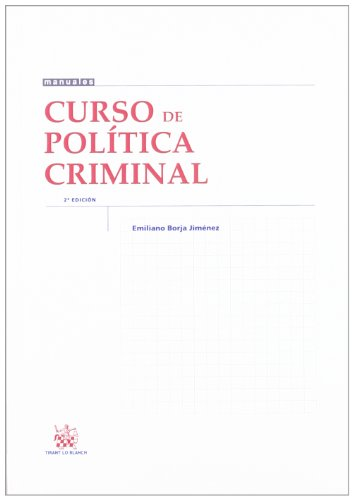 9788490043288: Curso de Política Criminal (Manuales (tirant))