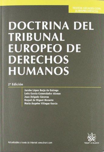 9788490048566: Doctrina del tribunal europeo de derechos humanos (2ª ed.) (Textos Legales)