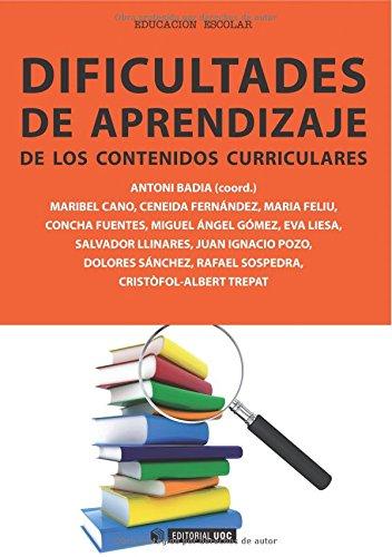 Dificultades de aprendizaje de los contenidos curriculares (Paperback): Maribel . . . [et al. ] ...