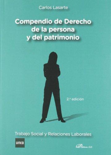 9788490310212: Compendio de Derecho de la Persona y del Patrimonio: Trabajo social y relaciones laborales