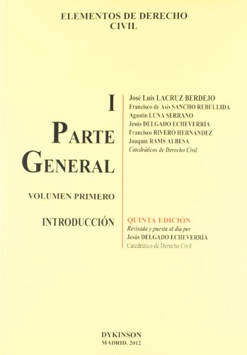 9788490311158: Elementos de Derecho Civil / Elements of Civil Law: Parte General. Introduccion / General Part. Introduction (Spanish Edition)