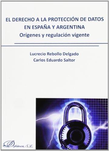 9788490314746: El Derecho A La Protección De Datos En España Y Argentina. Origenes Y Regulación Vigente