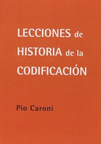 9788490315897: Lecciones de historia de la codificación