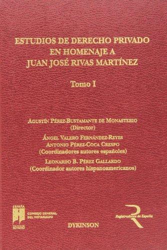Estudios de derecho privado en homenaje a: Agustín Pérez Bustamante