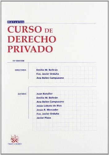 9788490330746: Curso de derecho privado (15ª ed.) (Manuales (tirant))