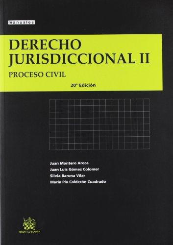 9788490330883: Derecho jurisdiccional II - proceso civil (20ª ed.) (Manuales (tirant))