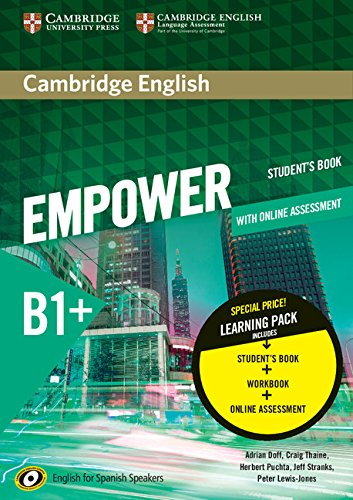 9788490361658: Cambridge English Empower for Spanish Speakers B1+ Learning Pack (Student's Book with Online Assessment and Practice and Workbook)