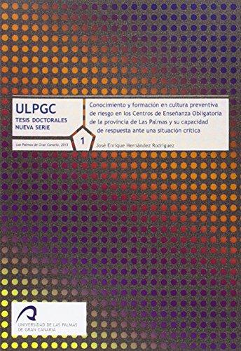 9788490420362: Conocimientos y formacion en cultura preventiva de riesgos en los centros de enseñanza obligatoria de...
